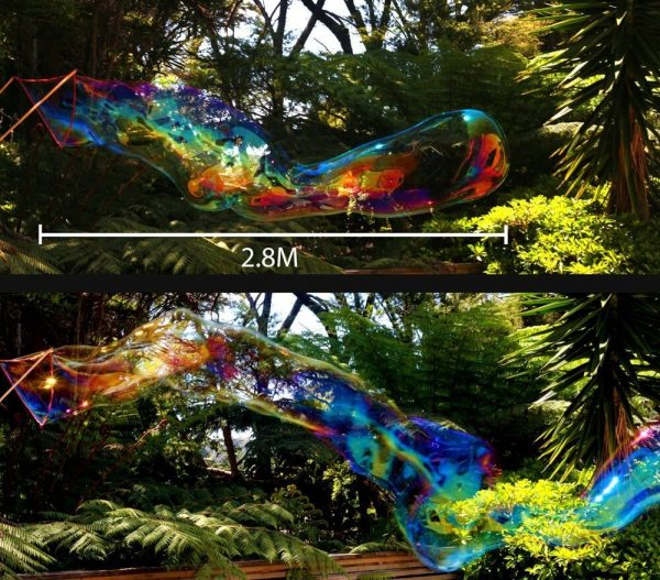 Shows the length of Giant Bubble that can be created with our Kids Wand